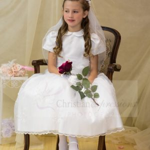 Beautiful first communion dresses peter pan collar