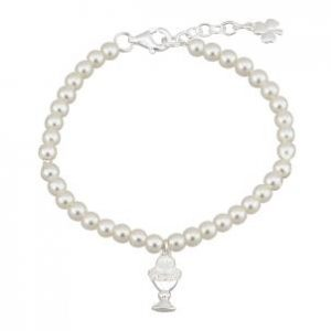 Communion Chalice Irish Bracelet Pearls