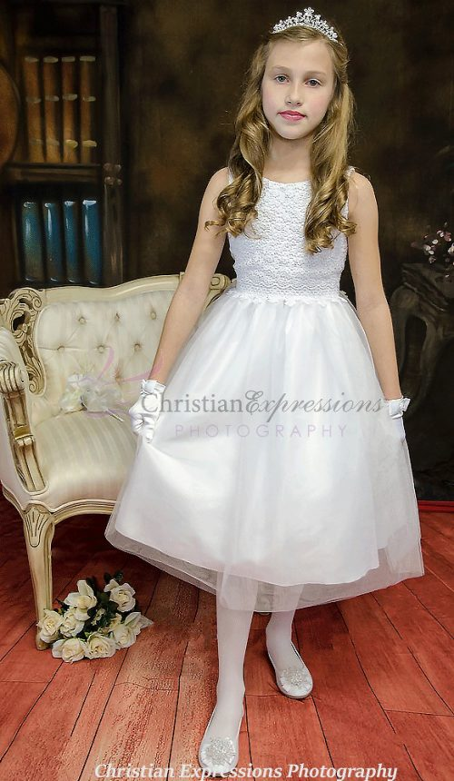 Crochet Bodice First Communion Dress