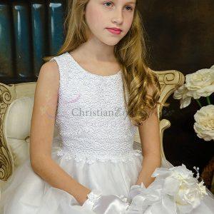 Crochet Bodice First Communion Dress for Girls