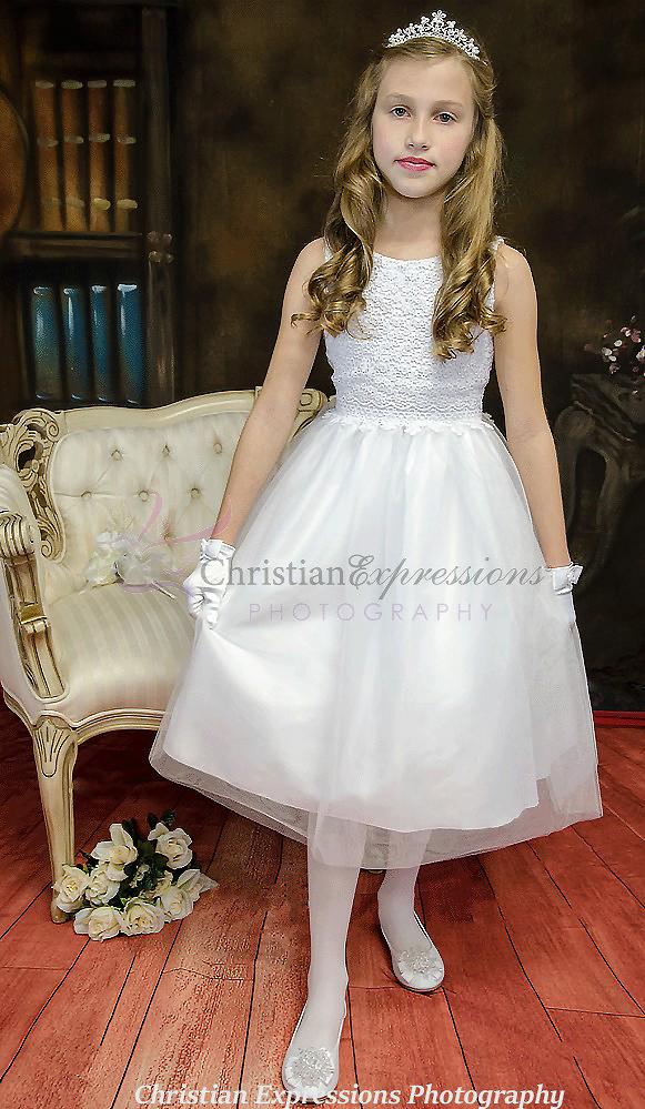 Crochet Bodice First Communion Dress
