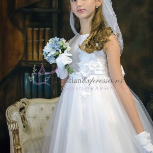 Satin and Tulle First Communion Dresses for Sale