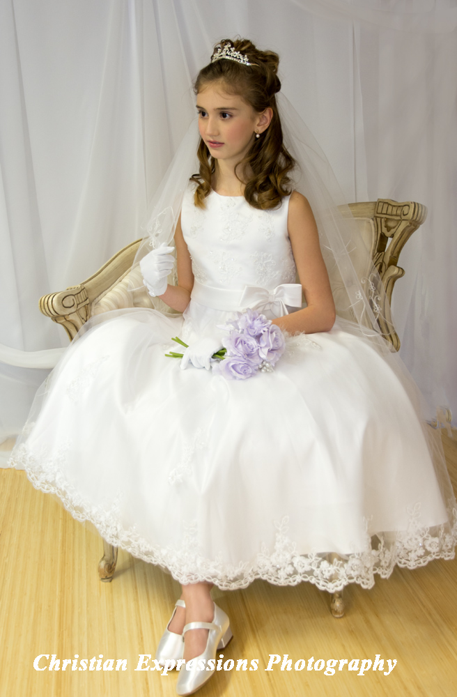 First Communion Dress Pearl Beading On Organza Beaded