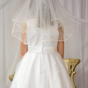 White First Holy Communion Veils Two Tier