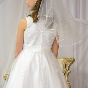 Girls First Communion Dress Pearl Beading on Organza Size 10