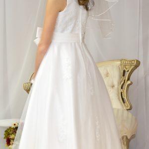 Girls First Holy Communion Dresses Pearl Beading on Organza Size 10
