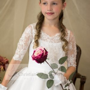 First Communion Crown Tiara Pearls and Crystals T713