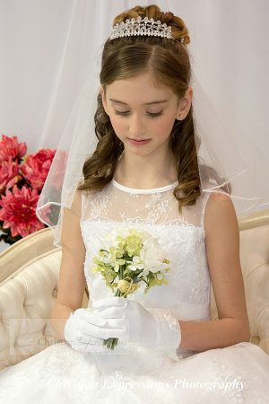 First Communion Crown Tiara with Crystals