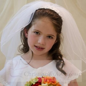 First Communion Headband Veil-V821