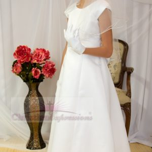 Full Length first communion dresses Cap Sleeves