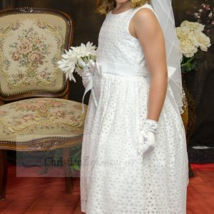 Girls Cotton Eyelet First Holy Communion Dresses