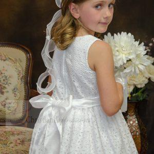 Girls Cotton First Communion Dress Tea Length