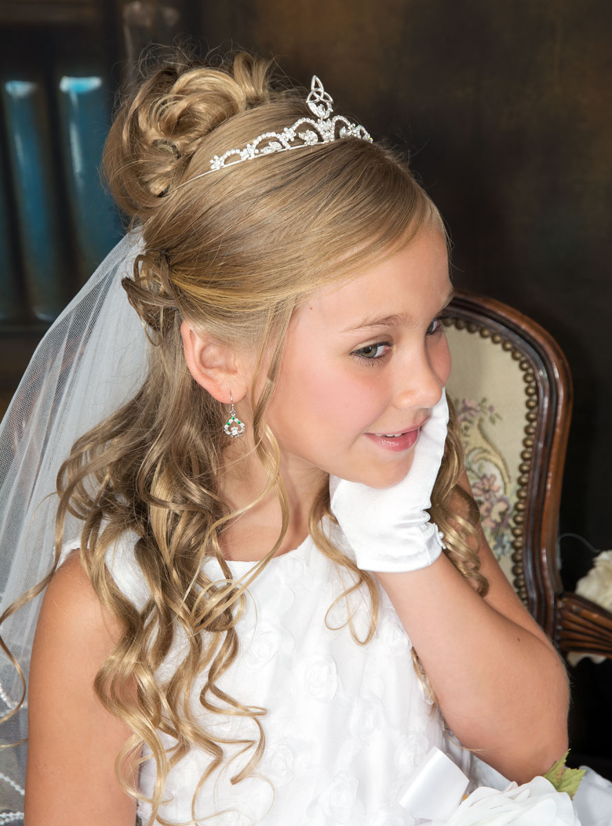 Tiara Hairstyles For Communion Hairstyles By Unixcode