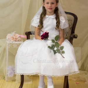 Holy first communion dresses peter pan collar