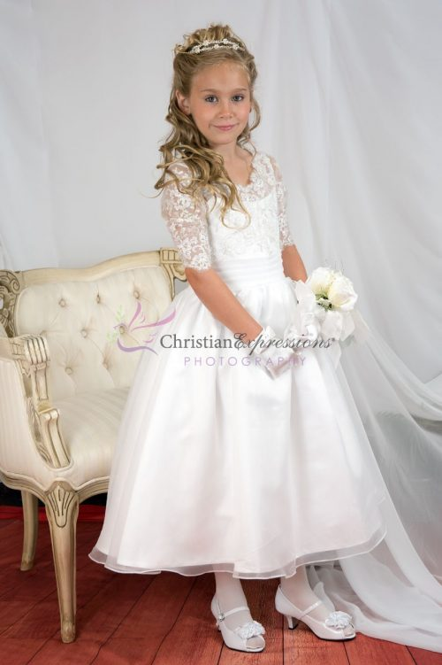 Lace Bodice First Communion Dress