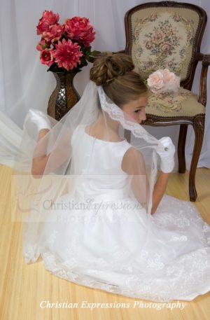 Lace First Holy Communion Mantilla