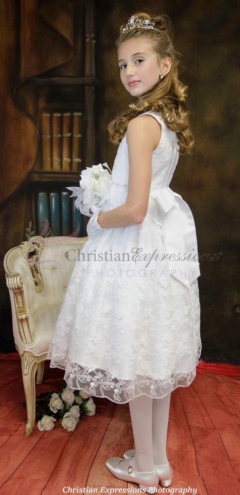 Lace Skirt First Communion Dress