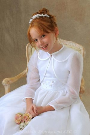 Long Sleeve Organza First Communion Jacket