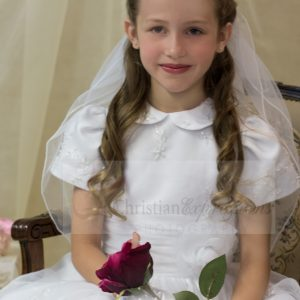 Modern First Communion Dresses with Peter Pan Collar