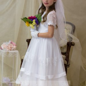 Organza Lace Banded First Holy Communion Dress