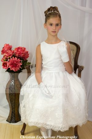 Organza and Lace First Communion Dresses for girls