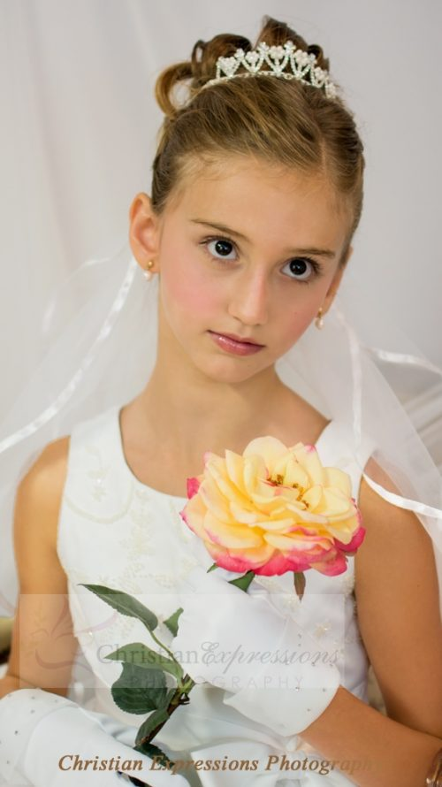 Pearl and Crystals First Communion Crown Tiara T701