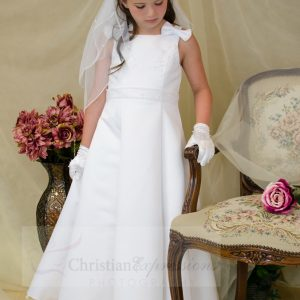 Satin A-Line First Communion Dress size 6