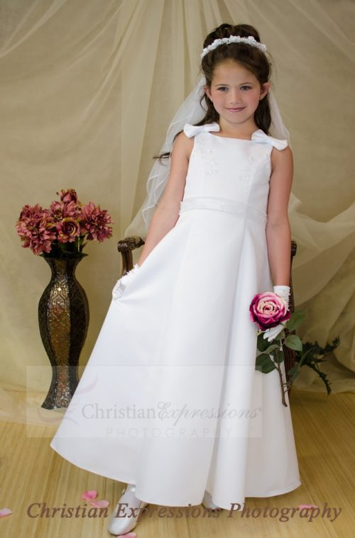 Satin A-Line First Communion Dress size 7