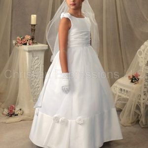 Modern First Communion Gown for Girls