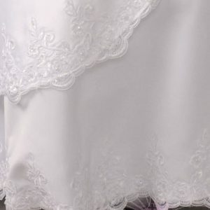 Satin First Communion gown Lace Trim