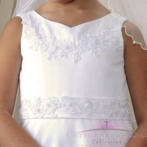 Satin Lace First Communion gown