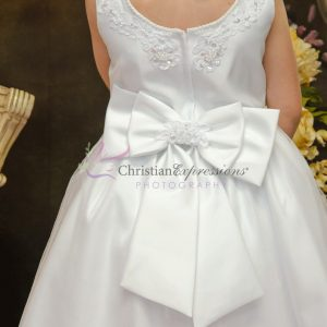 Satin Tulle Beaded First Communion Dress Size 8
