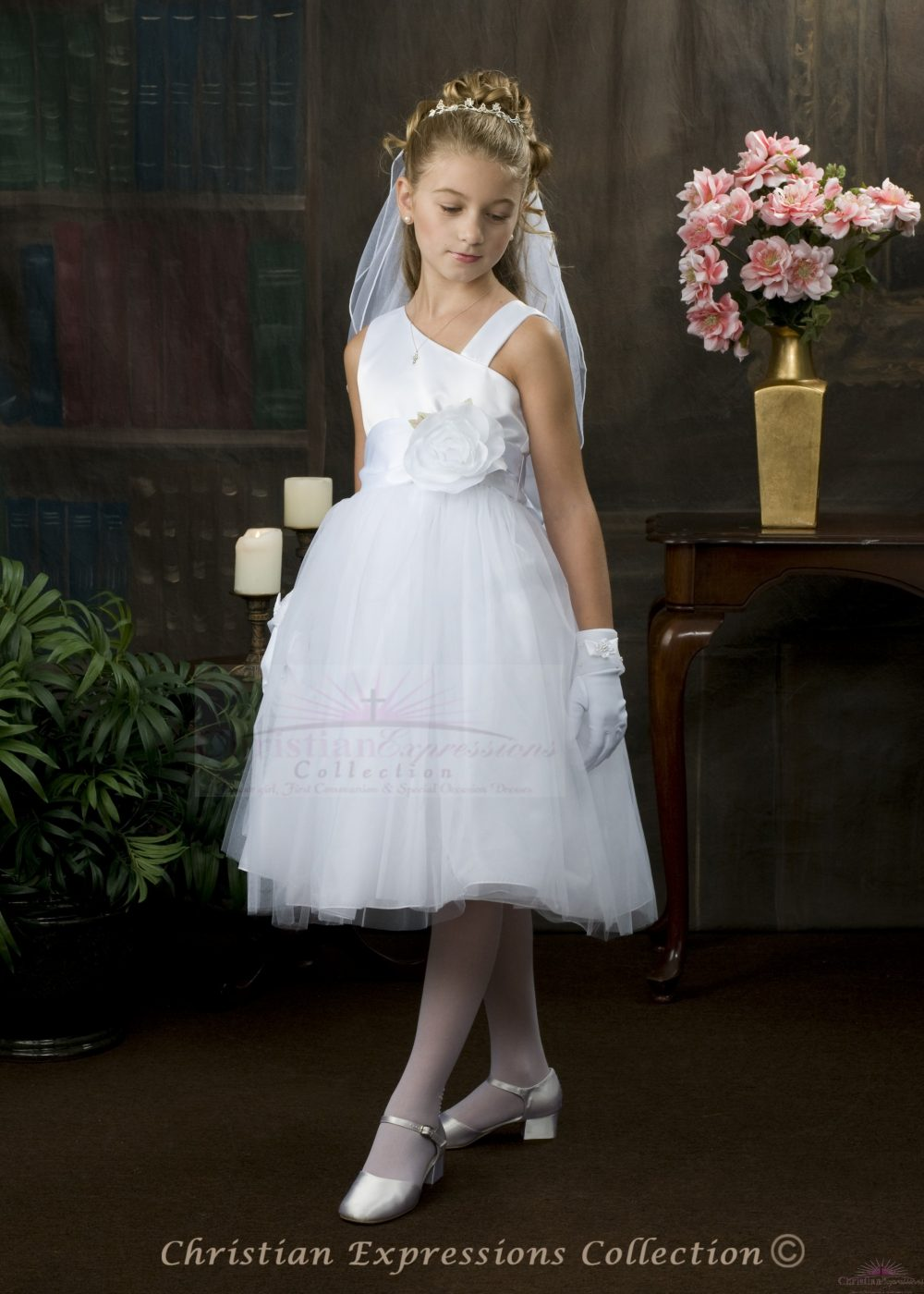 Satin and Tulle First Communion Dress