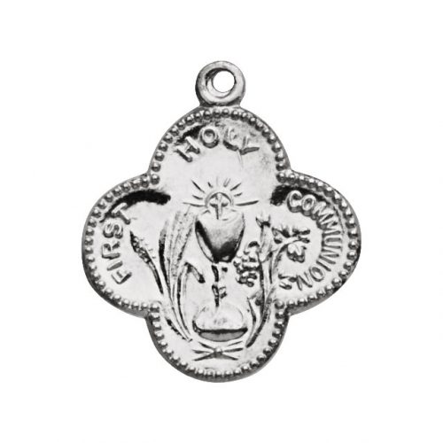 Sterling Silver First Communion Medal