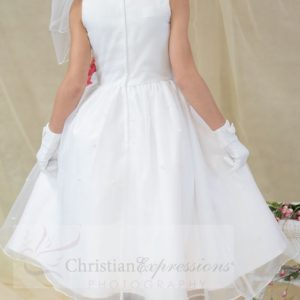 White First Communion Dress Tulip Skirt for Girls Size 6