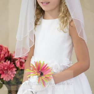 White First Communion Dress with Tulip Skirt Size 6