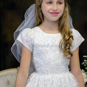 beaded communion dress with sleeves