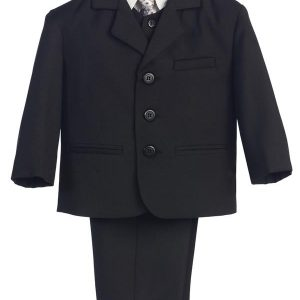 boys black first holy communion suit
