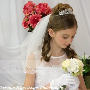 crystal first communion tiara