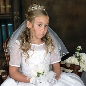embroidered organza with pearls first communion dresses