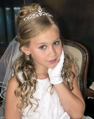 Irish First Communion Veils & Tiaras