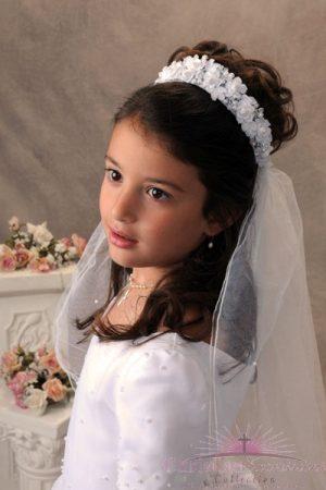 first communion bunwrap veil 4366