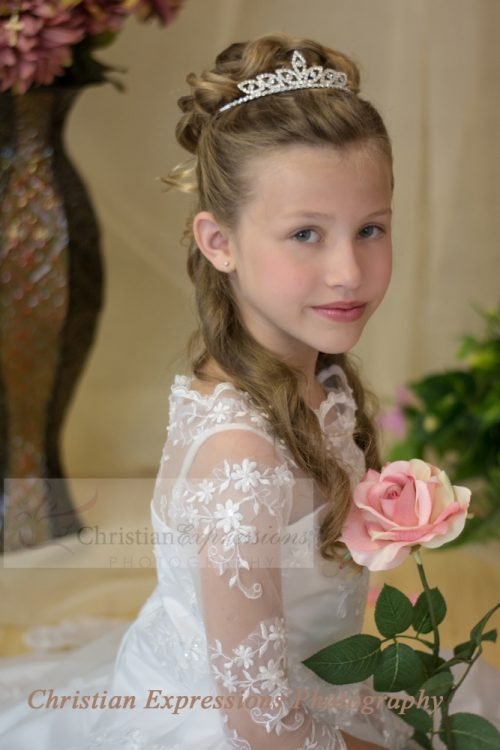 First Communion Crystal Tiara Crown -T702