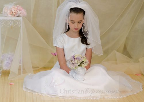 first communion dress a-line with beading