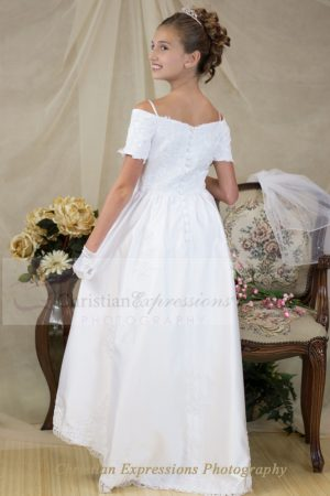 first communion dress off shoulders