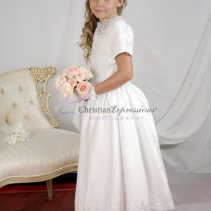 Girls First Holy Communion Dress with Heavy Beading size 6