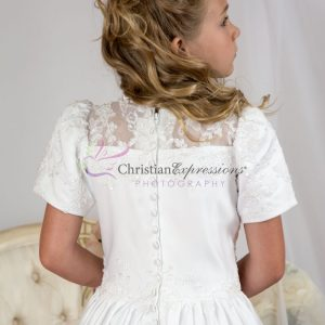 Girls First Holy Communion Dress with Heavy Beading