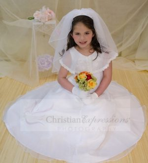 first communion dress with organza scarf for sale