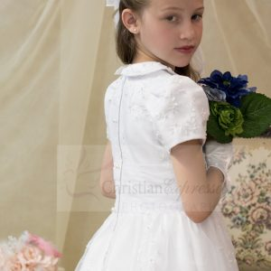 first communion dresses with sleeves peter pan collar