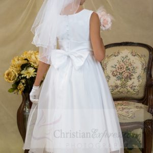 first communion pearl bun wrap veil with pearls